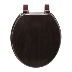 Trimmer - Deep Wood Grain Molded Wood Toilet Seat - Add timeless style to your bathroom with this solid wood toilet seat featuring two-piece molded construction and a swirled,deep wood grain. This gorgeous toilet seat has a finish resistant to water and staining and includes hardware.
