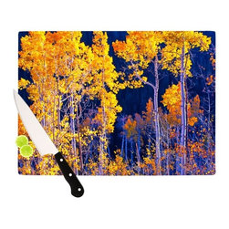 """Kess InHouse - Maynard Logan """"Trees"""" Cutting Board (11.5"""" x 15.75"""") - These sturdy tempered glass cutting boards will make everything you chop look like a Dutch painting. Perfect the art of cooking with your KESS InHouse unique art cutting board. Go for patterns or painted, either way this non-skid, dishwasher safe cutting board is perfect for preparing any artistic dinner or serving. Cut, chop, serve or frame, all of these unique cutting boards are gorgeous."""