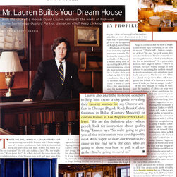 "News & Press - Check out this article on us in ""Profile"" Magazine. Featured and recommended by David Lauren (Polo Ralph Lauren, Ralph Lauren Home). We are also featured on the prestigious Ralph Lauren's City Guide for Los Angeles. http://www.ralphlaurenhome.com/design/city_guides/los_angeles.aspx"