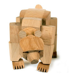 Ursa The Bear Design By David Weeks - Ursa's powerful hardwood frame can hold many poses, and her elastic-band muscles and durable wood limbs make her almost impervious to breakage. An enduring classic that will withstand generations of play.  Material: Sustainably Harvested Beech Wood  Dimensions: 13.5 x 6.5 x 5.75 inches