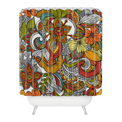 DENY Designs - Valentina Ramos Ava Shower Curtain - Who says bathrooms can't be fun? To get the most bang for your buck, start with an artistic, inventive shower curtain. We've got endless options that will really make your bathroom pop. Heck, your guests may start spending a little extra time in there because of it!