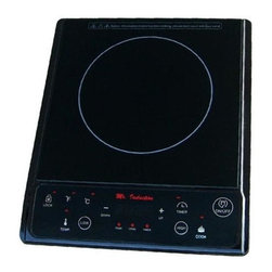 SPT Appliance - Induction w 7 Power Settings (Silver) - Color: SilverIncludes micro-crystal ceramic plate. LED panel. Touch-sensitive with control lock. Cook and warm functions. Automatic pan detection. Seven power settings (100-300-500-700-900-1100-1300 watts). Thirteen keep warm settings (100-120-140-160-180-190-210-230-250-280-300-350-390 degree F). Upto 8 hours timer. ETL, ETL-Sanitation and FCC certified. Input voltage:120 V/60 Hz. Power consumption: 1300 watts. Warranty: One year. 14.17 in. L x 11.81 in. W x 2.48 in. H (4.5 lbs.)Micro-Induction Cooktop provides the best in cooktop performance, safety and efficiency. Induction heats as electricity flows through a coil to produce a magnetic field under the ceramic plate. When a ferromagnetic cookware is placed on the ceramic surface, currents are induced in the cookware and instant heat is generated due to the resistance of the pan. Heat is generated to the pan only and no heat is lost. As there are no open flames, inductions are safer to use than conventional burners. Once cookware is removed, all molecular activity ceases and heating is stopped immediately.