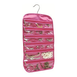 Florida Brands - Florida Brands 31-Pocket Hanging Jewelry Organizer in Pink - Takes up little closet space as it hangs from closet rod
