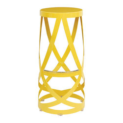 Capellini Ribbon Stool - Here's one way to inject a little fun and color into your kitchen: saddle up a few of these stools to your breakfast bar. If you're not a fan of yellow, they also come in white.