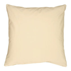 Pillow Decor - Pillow Decor - Caravan Cotton Cream 16 x 16 Throw Pillow - Bold and beautiful, the Caravan Cotton 16 x 16 Throw Pillows are the ideal pillows for adding a simple splash of color to your decor. With 3% spandex added to improve durability and wash ability, these soft cotton pillows will provide long lasting comfort.