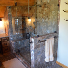 Rustic Bathroom by Aspen Kitchens Inc.