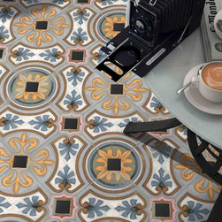 VODEVIL - The 1920s were a golden age filled with a playful innocence. The Vodevil collection will bring the exuberance of that era to any room in the home. From pastel fun floral patterns to vibrant printed square tiles and octagons you will find something to make any living space a refreshing blast from the past.