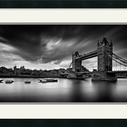 Amanti Art - Tower Bridge Framed Print by Marcin Stawiarz - The gothic architecture of Londons Tower Bridge stands out against a dramatic sky in this photograph by Marcin Stawiarz.