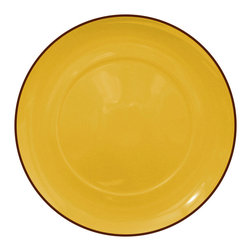 Waechtersbach - Duo Set of 4 Salad/Dessert Plates Duo Curry - Porcelain dinnerware is treated to a lustrous ceramic glaze for a look that's sunny and dishwasher safe. The curry color is great by itself, or mix with other patterns and hues for a casual, collected feel.