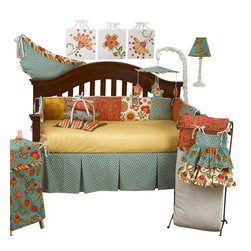 Cotton Tale Designs - Gypsy 7pc Crib Bedding Set - Gypsy 7pc crib bedding by Cotton Tale Designs is a wonderful blend of warm colors and beautiful, stimulating patterns.