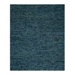 """Safavieh - Julian Textured Rug, Dark Blue / Multi 2'6"""" X 4' - Construction Method: Hand Woven. Country of Origin: India. Care Instructions: Vacuum Regularly To Prevent Dust And Crumbs From Settling Into The Roots Of The Fibers. Avoid Direct And Continuous Exposure To Sunlight. Use Rug Protectors Under The Legs Of Heavy Furniture To Avoid Flattening Piles. Do Not Pull Loose Ends; Clip Them With Scissors To Remove. Turn Carpet Occasionally To Equalize Wear. Remove Spills Immediately. Safavieh's Bohemian Collection is all-organic, with exquisitely fine jute pile woven onto a cotton warp and weft, and an earthy natural color palette. The high quality jute chosen for our Bohemian rugs is biodegradable and recyclable, with an innate sheen because it is harvested only from Cannabis Sativa (commonly known as the """"true hemp"""" plant), a quickly renewable resource that excels in length, durability, anti-mildew and antimicrobial properties. Safavieh brings fashion excitement to the eco-friendly rug category with the Bohemian collection's unique patterns, ribbed textures and remarkable hand. The rugs are washed to soften the yarn, and then brushed to an even more lustrous sheen. Hand Knotted in India."""
