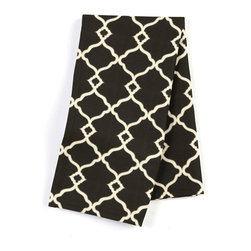 "Black Classic Trellis Custom Napkin Set - Our Custom Napkins are sure to round out the perfect table setting""""_whether you're looking to liven up the kitchen or wow your next dinner party. We love it in this small classic cream trellis on flooded black cotton sateen."