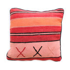 Baba Souk - Moroccan Pillow, Candy Stripes - While in Marrakesh, I noticed a new trend, these wonderful pillows with colorful candy stripes! While wandering through the souk and visiting the coolest riads, (which are traditional guesthouses usually decorated with great folkloric finds, the hippest places to stay when traveling to Marrakesh) these beautiful pillows with colorful stripes were calling my name!