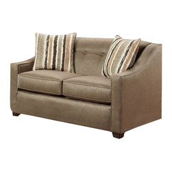 Chelsea Home Furniture - Chelsea Home Brittany Loveseat in Stoked Pewter - Brittany loveseat in Stoked Pewter belongs to the Chelsea Home Furniture collection