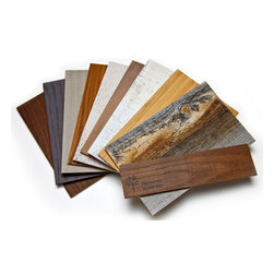 "Stikwood - Sample set - This Set contains (1) 8"" x 5"" sample of each product we offer. Includes 10 samples total."