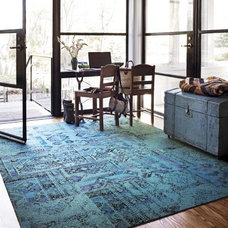 Wall And Floor Tile Remembrance Teal Carpet Tiles by Flor