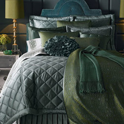 Ann Gish - Ann Gish Queen Duvet Cover - Made of silk. Select color when ordering. Dry clean. Imported.