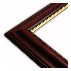 The Frame Guys - Traditional Mahogany with Gold Lip Picture Frame-Solid Wood, 11x17 - *Traditional Mahogany with Gold Lip Picture Frame-Solid Wood, 11x17