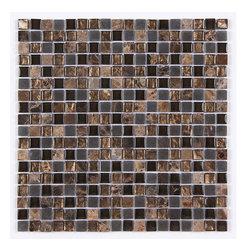 Stone & Co - Stone & Co Mosaic Glass and Stone Mix 5/8 x 5/8 Glass Mosaic Tile Mag 4437 SQ - Finish: Polished / Shiny / Matt