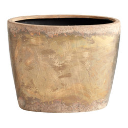 Cyan Design - Cyan Design Lighting - 05418 Small Rosen Planter - Cyan Design 05418 Small Rosen Planter