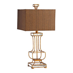 Contemporary Pinkston Iron Frame Table Lamp