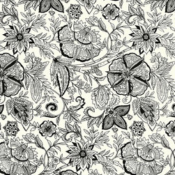 Rose Hill Floral Wallpaper - Find this pattern in the Vintage Cottage Collection at AmericanBlinds.com