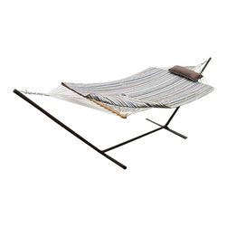 Phat Tommy - Hammock and Stand Set - Our Phat Tommy Hammock and stand set with pad and pillow brings style and relaxation to any deck, patio or back yard.