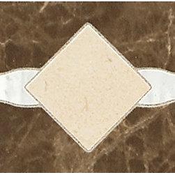 Catarina  Coliseum White / Roman Gold / Etruscan Brown Geometric Accent. -