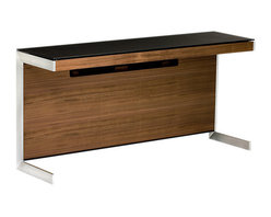 BDI - BDI Sequel Return, Walnut - The Sequel Return from BDI is another space conserving desk top that can be added on to with storage. It has a slimmer table top and comes in 3 color options.