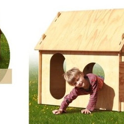 The Original PHOYO - Designed by an architect from New Zealand using sustainably grown veneers, PHOYO (Playhouse Of Your Own) is a slot-together playhouse. It's quick to set up and easy to dismantle and store away.