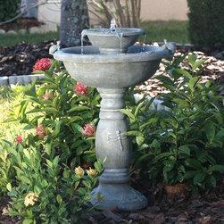 Smart Solar - Smart Solar Country Gardens 2-Tier Solar-on-Demand Fountain -