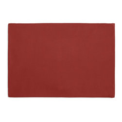 Red Cotton Sateen Custom Placemat Set - Is your table looking sad and lonely? Give it a boost with at set of Simple Placemats. Customizable in hundreds of fabrics, you're sure to find the perfect set for daily dining or that fancy shindig. We love it in this barn red lightweight cotton sateen with a beautiful luster and smooth finish.