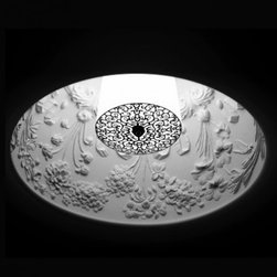 """Flos - Flos Skygarden recessed light - Product Details: The Skygarden recessed light was designed by Marcel Wanders in 2009.  The inside of this light is made of decorated plaster, finished with a beautiful texture, remeniscent of antique ceilings of old buildings and cathederals. It is said that Mr Wanders was inspired by the antique ceiling in his old home, and thus the Skygarden is born. Details:                                     Manufacturer:                                      Flos                                                     Designer:                                     Marcel Wanders                                                     Made in:                                     Italy                                                     Dimensions:                                       Diameter: 12"""" (30 cm)                                                     Light bulb:                                      1 x MAX 50w 12V GY6,35                                                     Material:                                      Plaster"""