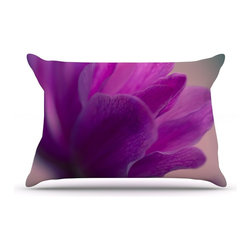 "Kess InHouse - Ann Barnes ""Standing Ovation"" Purple Flower Pillow Case, Standard (30"" x 20"") - This pillowcase, is just as bunny soft as the Kess InHouse duvet. It's made of microfiber velvety fleece. This machine washable fleece pillow case is the perfect accent to any duvet. Be your Bed's Curator."