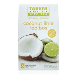 Takeya Whole Leaf Tea Coconut Lime Rooibos - PERFECTLY PAIRED FLAVORS (caffeine free)Earthy Green Rooibos blends with rich coconut  papaya  pineapple and zesty lime peel to send your taste buds to the tropics. Harvested in South Africa  Green Rooibos leaves are unoxidized  caffeine-free and brew to reveal a smooth and grassy flavor.Each Takeya tea is designed to ensure the most flavorful iced tea using our foil packets to lock in freshness and flavor. The packets are pre-measured to take out the guesswork  use one packet for the 1 Qt. Tea Maker and two for the 2 Qt.. Simply tear open  brew  chill  and enjoy the most delicious sip  every time.  Product Features      Pre-measured to ensure a perfect blend every time   Caffeine free   Perfectly paired flavors