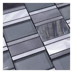 Home Elements - Metal Stone Glass Mosaic Tile, 1 Square Foot - Product Description: