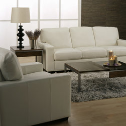 Leather Sofas for the Living Room or Family Room - Comfy leather seating...