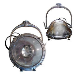 Crouse-Hinds - Antique Crouse-Hinds Spotlight - Looking for a one-of-a-kind vintage lighting option? Hang this antique Crouse-Hinds spotlight from your ceiling or mount it to your wall for an industrial-chic look.