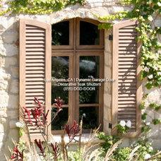 Mediterranean Window Treatments by Dynamic Garage Door