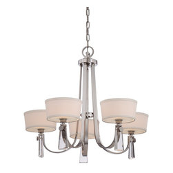 Quoizel - Quoizel UPBY5005IS Uptown Bowery Chandelier - The Bowery collection is a highend boutique design with sophisticated details of crystal jewelry perfect for today�۪s home decor.  Available in two fabulous finishes, Imperial Silver with a white linen shade and Western Bronze with a cream linen shade.