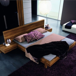 Rossetto - Gap Walnut Bed by Rossetto USA - Features: