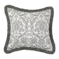 Home Decorators Collection - Custom Kids Fringed Pillow - Our Custom Kids Fringed Pillow offers plush comfort and inviting texture for your child's bed. Available in your choice of fun design, this pillow will incorporate seamlessly into your decor style. Your choice of color or pattern. Self backed. Fringed with zipper closure. Polyester fill. Assembled in the USA.