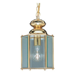 Livex Lighting - Livex Lighting 2116 1 Light 100W Outdoor Pendant with Medium Bulb Base and Clear - 1 Light 100W Outdoor Pendant with Medium Bulb Base and Clear Beveled Glass from Outdoor Basics SeriesProduct Features: