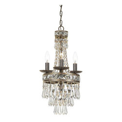 Crystorama Lighting - Crystorama Lighting 5263-EB-CL-MWP Mercer Transitional/Eclectic Mini Chandelier - Crystorama Lighting 5263-EB-CL-MWP Mercer Transitional / Eclectic Mini Chandelier In English Bronze With Clear Hand Cut Crystal