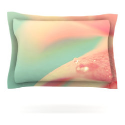 "Kess InHouse - Bree Madden ""Peach Mint"" Pillow Sham (Cotton, 30"" x 20"") - Pairing your already chic duvet cover with playful pillow shams is the perfect way to tie your bedroom together. There are endless possibilities to feed your artistic palette with these imaginative pillow shams. It will looks so elegant you won't want ruin the masterpiece you have created when you go to bed. Not only are these pillow shams nice to look at they are also made from a high quality cotton blend. They are so soft that they will elevate your sleep up to level that is beyond Cloud 9. We always print our goods with the highest quality printing process in order to maintain the integrity of the art that you are adeptly displaying. This means that you won't have to worry about your art fading or your sham loosing it's freshness."