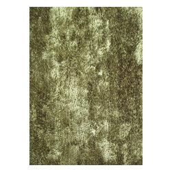 Rug - ~2 ft. x 3 ft. Living Room Green Door Mat Made In Tibet, Shaggy & Hand-tufted - Living Room Hand-tufted Shaggy Area Rug Door Mat