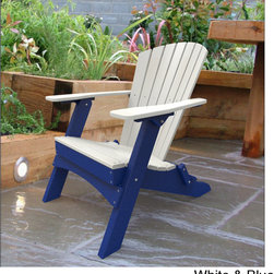 Malibu - Hyannis Folding Adirondack Outdoor Chair - Enjoy extra seating on your patio or deck with this attractive folding outdoor chair. This handy chair is easily stored when not in use, and it is made from high-density polyethylene, so it is able to withstand a variety of weather conditions.