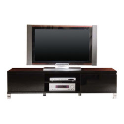 Creative Furniture - Modern Soho TV Stand in Black Finish - Add more sophistication to your living environment with this attractive TV Stand! It will instantly enhance your home.