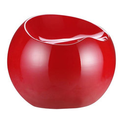 Zuo Modern - Zuo Modern Drop Stool, Red - Like a sculpted drop of dew, the Drop stool not only has a wonderful shape, but also a perfect seating surface. It is formed from ABS plastic and comes in four glossy colors: black, white, red, and green.