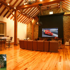 Rustic Home Theater by Gramophone